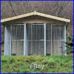 10 x 10 Ft Triple Dog Kennel And Run