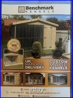 10 x 8 ft Single Dog Kennel And Run With Bed Box