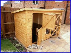 10ft X 4ft Quality Wooden Dog Kennel And Run