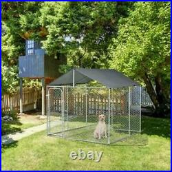 10x10FT Outdoor Pet Dog Run House Kennel Shade Cage Enclosure with Cover Playpen