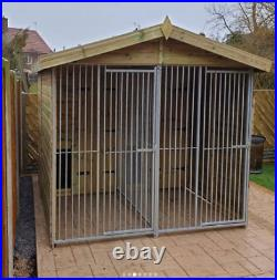 10x10ft Duo dog kennel and run
