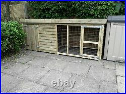 12 x 4 x 4ft tall tanalised dog kennel and run