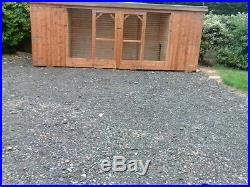 12ft x 4ft x 4ft high double dog kennel and run £450