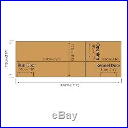12x4Wooden Shiplap Garden Dog Kennel & Run 12ft x 4ft