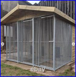 12x8ft Triple dog kennel and run