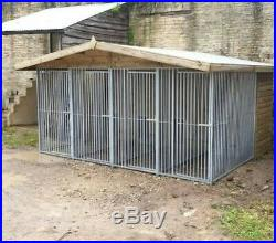 13 x 8 ft Four Bay Dog Kennel And Run