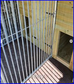 13x8ft 4 bay dog kennel and run