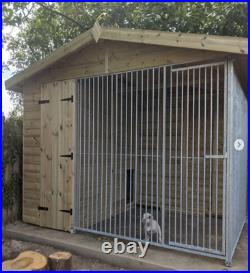 14x6.5ft Dog kennel with run