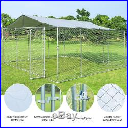 15' X 15' Large Pet Dog Run House Kennel Shade Cage