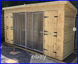 15x7ft Pent duo Kennel