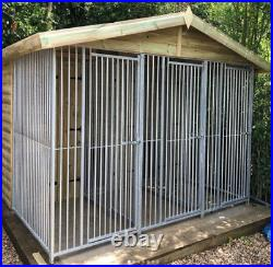 20x10ft Triple dog kennel and run