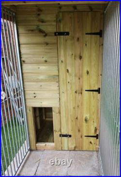 20x8ft 4 bay dog kennel and run