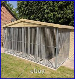 27x10ft 4 bay dog kennel and run