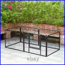6 Panel Puppy Pen Pet Dog Exercise Playpen Fence Kennel Enclosures Run Cage UK