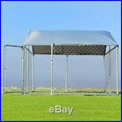 7.5' x 7.5' Large Animal Pet Dog Run House Kennel Sun Shade Cage Kennel Covers