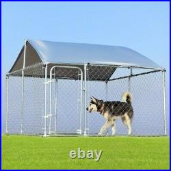 7.5' x 7.5' Large Pet Dog Run House Kennel Shade Cage-Dog kennel + Kennel cover