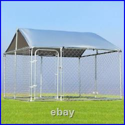 7.5' x 7.5' Large Pet Dog Run House Kennel Shade Cage-Dog kennel & Kennel cover