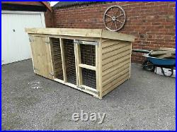 8 x 4 x 4ft tall tanalised dog kennel and run delivered and fitted in Swansea