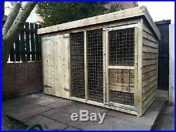 8 x 4 x 5ft tall tanalised dog kennel and run
