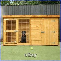 8x4 Wooden Dog Kennel and Run Pet House