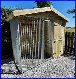 8x8ft Dog kennel and run