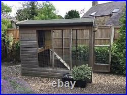 Animal Outdoor Large Pet Kennel With Run For Dog Cats Rabbits Chicken Or Geese