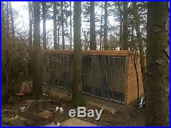 Block Of 4 Dog Kennels And Runs