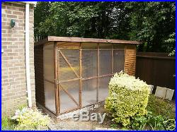 CAT HOUSE pen with covered run delivered and erected free