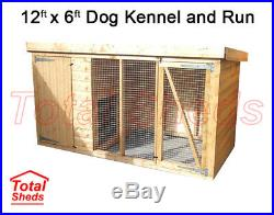 DOG KENNEL AND RUN 12FT x 6FT