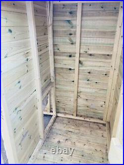 Dog Kennel And Run Handmade Solid Timber With Lock And Key Small/Medium
