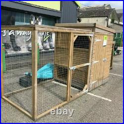 Dog Kennel And Run (Kennel Is 1.8m highX1.8m Squared)And(Run Is 1.8MX1MX1.8M)