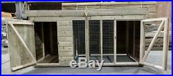 Dog Kennel & Run 10ft x 4ft Fully Pressure Treated Tanalised Timber Free Del