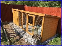 Dog Kennel & Run 12ft X 4ft Built But Unused