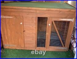 Dog Kennel & Run 6ft x 4ft Fully Pressure Treated Tanalised Timber Free delivery