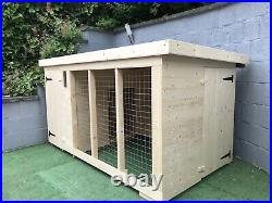 Dog Kennel & Run 8ft x 4ft Fully Pressure Treated Timber Free Delivery RRP £690