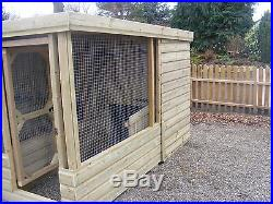Dog Kennels & Runs Block Of 4 Free Delivery Available See Listing