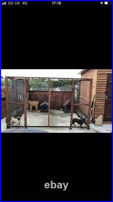 Dog Pen Dog Run Kennel 10ft By 10ft Steel Cage 2 Doors