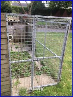 Dog kennel and galvanized run