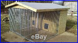 Dog kennel and run 10 x 10 ft duo / double delivery available