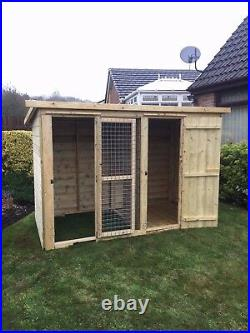 Dog kennel and run 12x4 pressure treated T&G 5ft 6 Tall 10 year anti rot