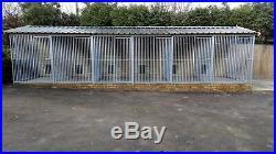 Dog kennel and run 6 bay