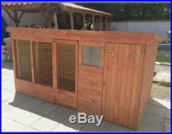Dog kennel and run 8ft X 4ft X 4 ft high
