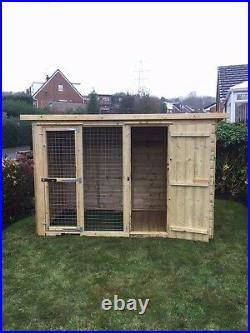 Dog kennel and run 8x4 pressure treated T&G 5ft 6 Tall 10 year anti rot