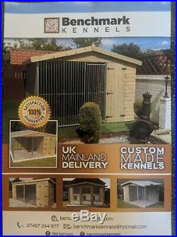 Dog kennel and run Deluxe triple 15 ft x 10ft delivery available