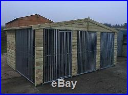 Dog kennel and run Deluxe triple 15 ft x 12ft Delivery available