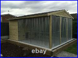 Dog kennel and run Triple 12 ft x 14 ft delivery available