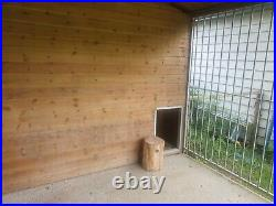Dog kennel and run used