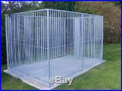 Doghealth galvanised panel dog run, 3m(L) x 1.5m(W) x 1.84(H) + feeding bowl
