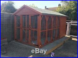 Double Dog Kennel And Run 10X6 Foot And 6ft 6inch Tall