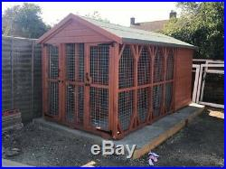 Double Dog Kennel And Run 12' X6